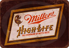 Miller High Life Reproduction metal sign 12 x 8 made in the USA