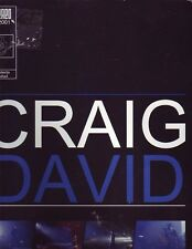 Craig David Tour Program Guide 2001 Pictures Biography
