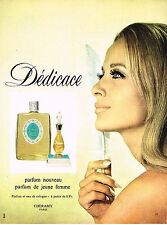 PUBLICITE ADVERTISING 084  1966  CHERAMY  parfum DEDICACE