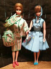 Vintage 1968 Mod Barbies in Mattel easy sew fashions - lot of 2