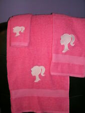 Barbie Personalized Barbie 3 Piece Bath Towel Set  Any Color Choice