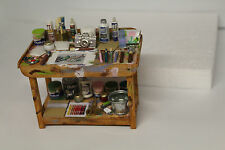 DOLLS HOUSE = Handcrafted  Artist Laden Table