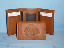 CHICAGO BLACKHAWKS   Leather TriFold Wallet    NEW    brown 2