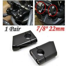 """2x Aluminum Universal 7/8"""" 22mm For Motorcycle Bike Handlebar Riser Clamp Taper"""