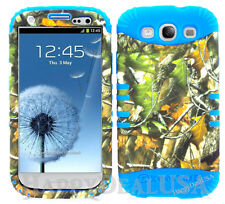 KoolKase Hybrid Silicone Cover Case for Samsung Galaxy S3 i9300 - Camo Mossy 10