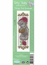 DMC ME TO YOU TATTY TEDDY VINTAGE ROSE BOOKMARK CROSS STITCH KIT