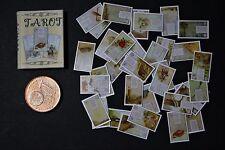 Tarot Buch Karten 1:12  Miniatur Puppenstube Puppenhaus 1:6 Setzkasten
