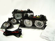 GERMAN FK / DEPO BMW E36 2DR EURO ANGEL EYES ELLIPSOID HEADLIGHTS + CORNER LAMPS