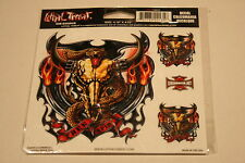 Lethal Threat Motorcycle street bike Decal Sticker Snake and Cow Skull