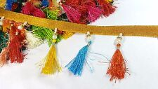8.5cm- 1 meter Beautiful and colourful threads & beads fringe lace trimming