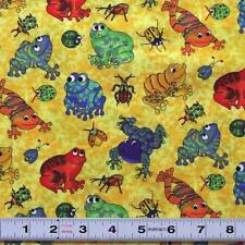 I SPY IN THE AMAZON -  FROGS by Cherie Strole  20900 - Fabric by the ½ metre