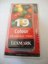 GENUINE ORIGINAL LEXMARK 19 COLOUR INK CARTRIDGE - P700 P3100 X4200 Z700 SERIES