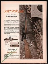 1965 BROWNING .22 Automatic Rifle PRINT AD Collectible Advertising shown w/case