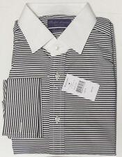 Ralph Lauren Purple Label Italy Slim Fit French Cuff White Collar Dress Shirt