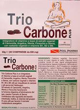 TRIO CARBONE PLUS con FINOCCHIO SENNA CARBONE VIT B1 B2 B6 ANGELICA CAMOMILLA 40