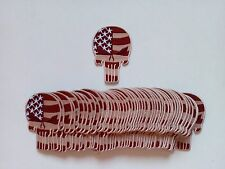 "50 Punisher / USA Flag (Tan) Embroidered Patches  Height:3.5"" -"