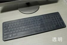 Clear Silicone Keyboard skin cover guard For Dell KM632 Wireless Keyboard