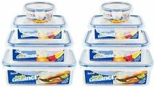 BUY 1 GET 1 FREE SET OF 4 CLIP LOCK AIRTIGHT FOOD CONTAINERS PLASTIC KEEP FRESH