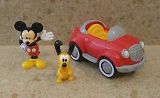 Disney Mickey Mouse Pluto with Car Vehicle Set Figure Doll