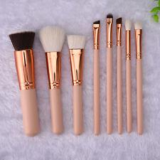 Pro 8pcs Makeup Brushes Set Eyeshadow Eyeliner Lip Brush Powder Foundation Tool
