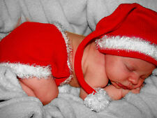 Santa Baby diaper cover set infant size 0-6 months