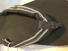GAP men slippers flip flops medium 11 rubber textile grey New w Tags without Box