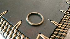 Vintage band RING cast brass metal 2mm wide Unisex smooth dome sz 6.75 stacker