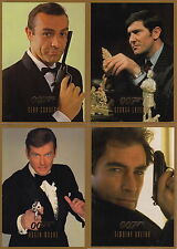 JAMES BOND CONNOISSEUR'S COLLECTION 4 CARD UNCUT SHEET SD1 SD4