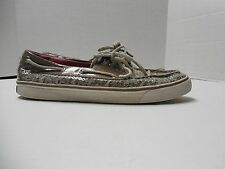 Womens Size 8.5M Sperry Top-Sider Leopard/Cheetah Print w/ Sequins Boat Shoes