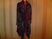 NWT ARTEX (Canada) cowl neck W-shaped hem dress/long tunic multi-color size XXL.