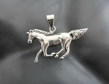 925 Sterling Silver Horse Charm Pendant For Chain necklace High Polish