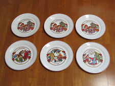 CORELLE HAPPY HOLIDAYS DINNER PLATES LOT OF 6 ANIVERSARY EUC