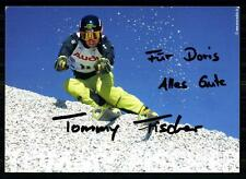 Tommy pescatori AUTOGRAFO MAPPA ORIGINALE FIRMATO skialpine + a 88197