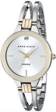Anne Klein Watch * 1943SVTT Diamond Gold Silver Steel Bangle COD PayPal MOM17