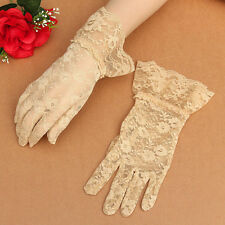 Sexy Women Bridal Evening Wedding Party Prom Driving Costume Lace Mittens Gloves