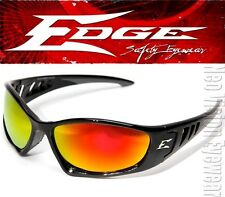 Edge Baretti Red Mirror Safety Glasses Sunglasses Motorcycle Ballistic Z87+