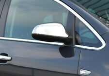 CHROME DOOR WING MIRROR TRIM SET COVERS SURROUNDS FOR VAUXHALL ASTRA J 2010+