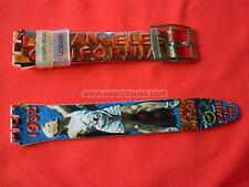 SWATCH CINTURINO x OLYMPIC LOS ANGELES 1932 - SSZ100 - 1994 - NUOVO  strap band