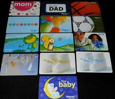 13 Collectible Gift Card WALMART Kids Baby Department Store Lot No Value  2010