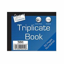 Half Size Triplicate Duplicate Receipt Book Numbered 1 - 50 Pad Carbon Invoice