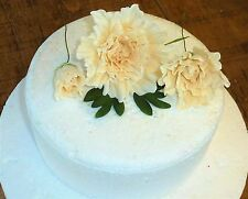 In Stock Handmade Sugar Paste Flowers Ivory Peony group cake topper wedding