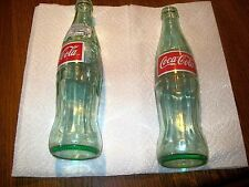 Unique 2 Coca-Cola collectible glass bottles from Mexico from 2002 355 ml(12 oz)