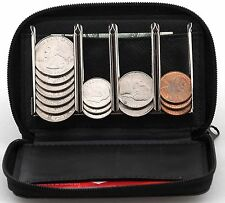 Coin Purse Wallet With Coin Sorter - Quick Change On The Go - Trusty Coin Pouch