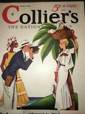 Colliers Magazine Cover Only Pretty Lady Tourist Art Barney Tobey March 16 1935