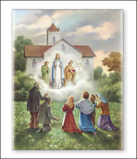 OUR LADY OF KNOCK CANVAS PICTURE - STATUES, CRUCIFIXES AND CANDLES ALSO LISTED