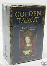 GOLDEN TAROT BY KAT BLACK 78 CARD DECK 198 PAGE GUIDE BOOK GUILT EDGES NIB
