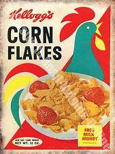 Vintage Food, 76, Corn Flakes Cereal Cafe Kitchen Old Shop Medium Metal/Tin Sign