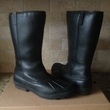 UGG BELFAIR BLACK TALL WATER-PROOF LEATHER RAIN SNOW BOOTS US 9.5 WOMENS