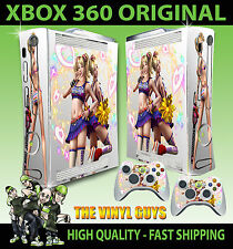 XBOX 360 OLD SHAPE LOLLIPOP CHAINSAW LIGHT HEARTS STICKER SKIN & 2 PAD SKINS