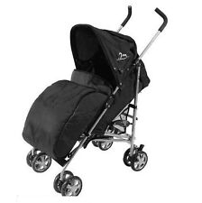 UNIVERAL FIT PRAM COSY STROLLER BUGGY PUSH CHAIR FOOT MUFF WARMER COVER BLACK